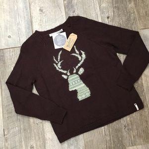 Woolrich Motif Mohair Wool Blend Sweater Deer Head